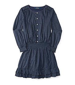 Polo Ralph Lauren® Girls' 7-16 Long Sleeve Tiered Dress