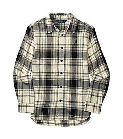 Polo Ralph Lauren® Girls' 7-16 Long Sleeve Plaid Shirt