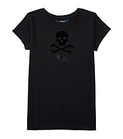 Polo Ralph Lauren® Girls' 7-16 Short Sleeve Skull & Crossbones Tee