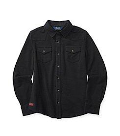 Polo Ralph Lauren Girls' 7-16 Long Sleeve Western Shirt