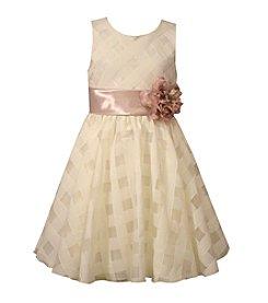 Bonnie Jean® Girls' 5-6X Sheer Plaid Dress