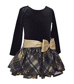 Bonnie Jean® Girls' 2T-4T Shimmer Plaid Dress
