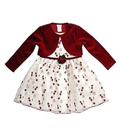 Sweet Heart Rose® Girls' 2T-4T 2-Piece Floral Dress Set