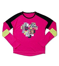PUMA® Girls' 4-6X Long Sleeve Shine Bright Pieces Tee