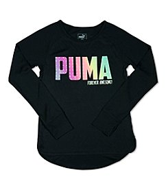 PUMA® Girls' 4-6X Long Sleeve Forever Awesome Tee