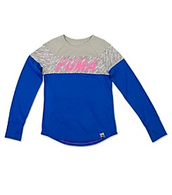 PUMA® Girls' 7-16 Long Sleeve Stripe Tee