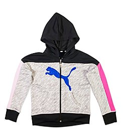 PUMA® Girls' 7-16 Full-Zip Colorblock Hoodie