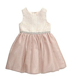 Sweet Heart Rose® Girls' 2T-6X Rose Bodice Shimmer Dress