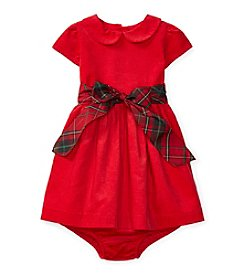 Ralph Lauren® Baby Girls' Plaid Bow Dress