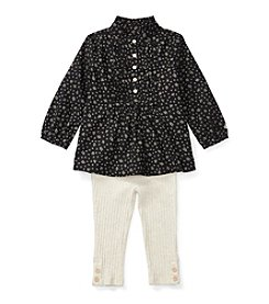 Ralph Lauren® Baby Girls' 2-Piece Floral Top and Sweater Leggings Set