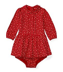 Ralph Lauren® Baby Girls' Floral Pintuck Dress
