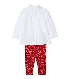 Ralph Lauren® Baby Girls' 2-Piece Buttondown Shirt and Floral Leggings Set