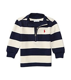 Ralph Lauren® Baby Boys' 1/4 Zip Striped Pullover