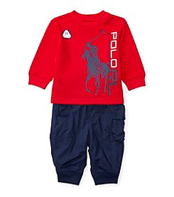 Ralph Lauren® Baby Boys 2-Piece Tee and Cargo Pants Set