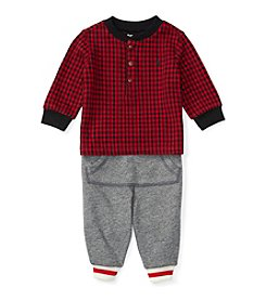 Ralph Lauren® Baby Boys 2-Piece Henley and Joggers Set