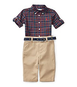 Ralph Lauren® Baby Boys' 2-Piece Plaid Shirt and Pants Set