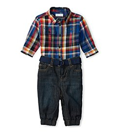 Ralph Lauren® Baby Boys' 2-Piece Plaid Shirt and Joggers Set