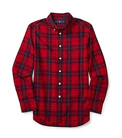 Polo Ralph Lauren® Boys' 8-20 Long Sleeve Plaid Poplin Shirt