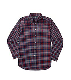 Polo Ralph Lauren® Boys' 8-20 Long Sleeve Checked Poplin Shirt