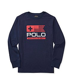 Polo Ralph Lauren® Boys' 8-20 Long Sleeve Flag Graphic Tee