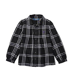 Polo Ralph Lauren® Girls' 2T-6X Long Sleeve Plaid Top