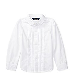 Polo Ralph Lauren® Girls' 2T-6X Long Sleeve Pleated Shirt