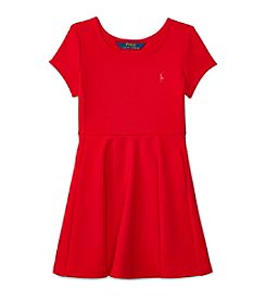 Polo Ralph Lauren® Girls' 2T-6X Short Sleeve Ponte Dress