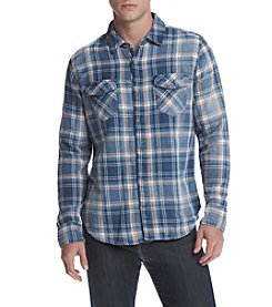 Lazer™ Men's Long Sleeve Plaid Button Down Shirt