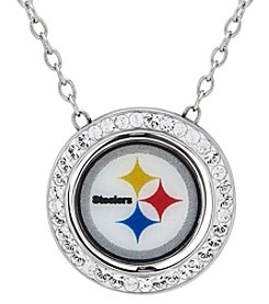 NFL® Pittsburgh Steelers Sterling Silver Round Pendant