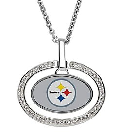 NFL® Pittsburgh Steelers Sterling Silver Oval Pendant