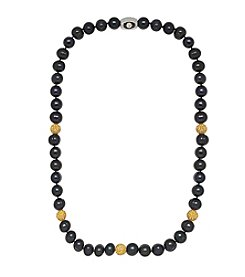 NFL® Pittsburgh Steelers 8-9mm Freshwater Pearl Bead Strand Necklace