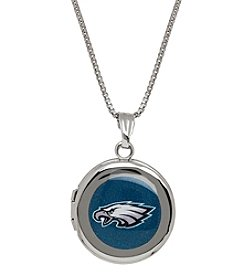NFL® Philadelphia Eagles Sterling Silver Polished Round Locket Necklace