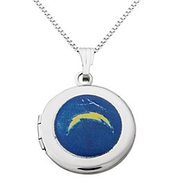 NFL® San Diego Chargers Sterling Silver Polished Round Locket Necklace