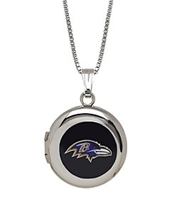 NFL® Baltimore Ravens Sterling Silver Polished Round Locket Necklace