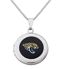 NFL® Jacksonville Jaguars Sterling Silver Polished Round Locket Necklace