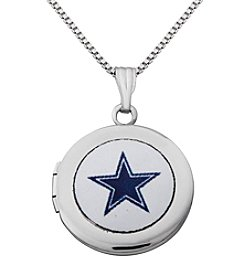 NFL® Dallas Cowboys Sterling Silver Polished Round Locket Necklace