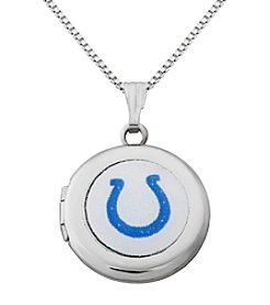 NFL® Indianapolis Colts Sterling Silver Polished Round Locket Necklace