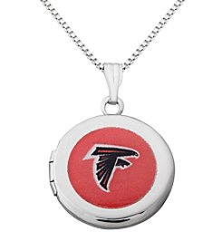 NFL® Atlanta Falcons Sterling Silver Polished Round Locket Necklace