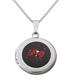 NFL® Tampa Bay Buccaneers Sterling Silver Polished Round Locket Necklace