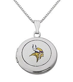 NFL® Minnesota Vikings Sterling Silver Polished Round Locket Necklace