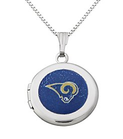 NFL® Los Angeles Rams Sterling Silver Polished Round Locket Necklace
