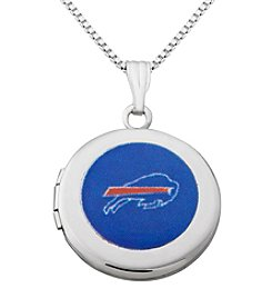 NFL® Buffalo Bills Sterling Silver Polished Round Locket Necklace