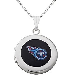 NFL® Tennessee Titans Sterling Silver Polished Round Locket Necklace