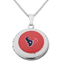 NFL® Houston Texans Sterling Silver Polished Round Locket Necklace