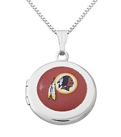 NFL® Washington Redskins Sterling Silver Polished Round Locket Necklace