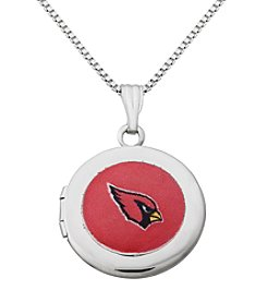 NFL® Arizona Cardinals Sterling Silver Polished Round Locket Necklace