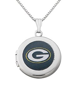 NFL® Green Bay Packers Sterling Silver Polished Round Locket
