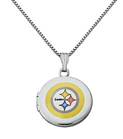 NFL® Pittsburgh Steelers Sterling Silver Polished Round Locket