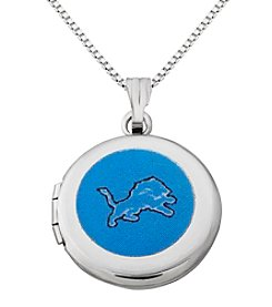 NFL® Detroit Lions Sterling Silver Polished Round Locket Necklace