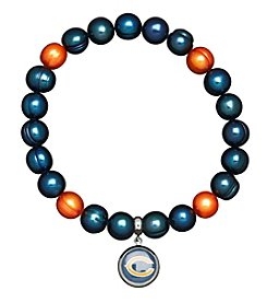 NFL® Detroit Lions Freshwater Pearl Bracelet with Logo Charm